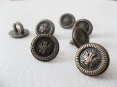 12pc-12mm-antique-brass-vintage-shank buttons