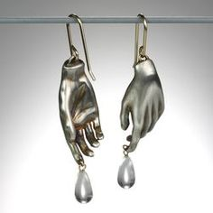 Quadrum - Gabriella Kiss Jewelry Hand Earrings with Crystal Drops