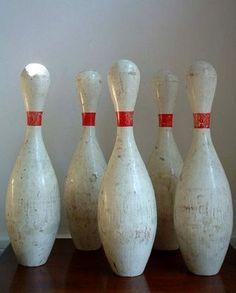 vintage bowling pins