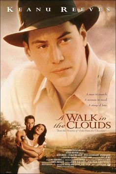 A Walk in the Clouds is a 1995 American-Mexican romantic drama film directed by Alfonso Arau and starring Keanu Reeves, Aitana Sánchez-Gijón, Giancarlo Giannini and Anthony Quinn. All Movies, Great Movies, Keanu Reeves, See Movie, Movie Tv, Image Film, Bon Film, Pochette Album, Chick Flicks