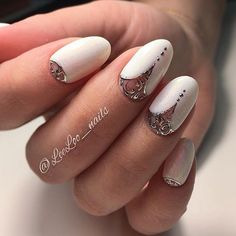"828 Likes, 6 Comments - ❤️Julia #nail__master__russia (@nail__master__russia) on Instagram: ""Мастер @leeloo_nails #wedding_nails#френч#weddingday #свадебныеногти#свадебныйобраз…"""