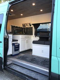 Van kitchen, perfect use of space - Van Life - Outdoor Kitchen Auto Camping, Stealth Camping, Outdoor Camping, Camping Gear, Camping Cabins, Truck Camping, Camping Equipment, Sprinter Van Conversion, Camper Van Conversion Diy