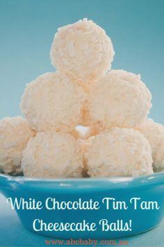 White Chocolate, Tim Tam & Cheesecake Balls!
