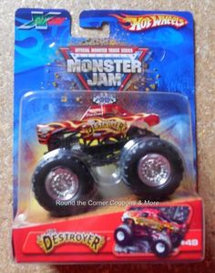 2006 Hot Wheels #49 The Destroyer X-Raycers Monster Jam 1:64 Truck Retired