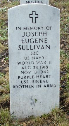 One of five Sullivan brothers killed with the sinking of the USS Juneau by Japanese torpedoes off the Solomon Islands of the South Pacific. World History, World War Ii, Military Girlfriend, Navy Military, Military Spouse, Military Personnel, Uss Juneau, Sullivan Brothers, Guadalcanal Campaign