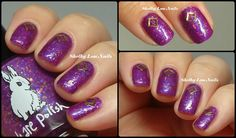 Hump Day HARE: Hare Polish 11th Dimension Interloper with gold frames from Daily Charme