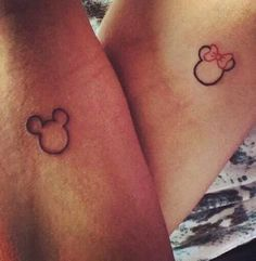 tattoo, mickey, and couple
