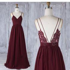 Simple Burgundy Long Prom Dress Custom-made School Dance Dress Fashion – YourDressTailor