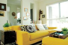 Yellow couches :)