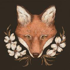 The Fox and Dogwood — Jessica Roux Illustration Art And Illustration, Fuchs Illustration, Illustrations, Vintage Fox, Fox Print, Freelance Illustrator, Metal Art, Art Inspo, Moose Art