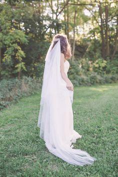 CIARA Draped Bridal Veil