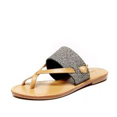 Leather Slotted Thong Sandal from @soludos