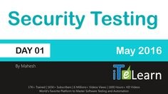 This video covers topics like Introduction to Security Testing, Basic Web Application Architecture, Http Protocol Basics, Transport Layer and Properties, Header - Request and Response structure, Http Methods, Status Codes and Https Protocol Basics.  ITeLearn, the premier institute in software training releases Security Testing Day -01 Session and Training Video.  Register here - http://itelearn.com/security-testing-course/