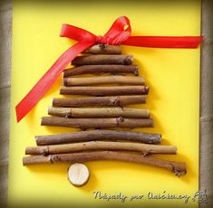 Vánoční přání či novoročenky z větviček