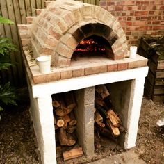 Recycled homemade pizza oven
