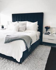 Trendy Bedroom, Cozy Bedroom, Home Decor Bedroom, Bedroom Wall, Master Bedroom, Master Suite, Couple Bedroom Decor, Men Bedroom, Scandinavian Bedroom