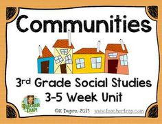 Communities Unit for Grade Social Studies! In third grade, we spend a lot of time learning about communities so my purpose was to create some . 3rd Grade Social Studies, Social Studies Classroom, Social Studies Activities, 3rd Grade Classroom, Teaching Social Studies, Student Teaching, Teaching Science, Teaching Ideas, Social Studies Communities