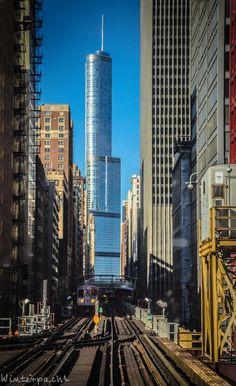 East Loop CTA, Chicago, Illinois #architecture