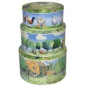 Year in the Country Cake Tins, set of 3