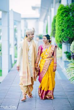 Elegant South Indian Bride and Groom Wedding Outfits For Groom, Groom Wedding Dress, Indian Wedding Couple, Indian Wedding Outfits, Groom Dress, South Indian Weddings, South Indian Bride, Groom Outfit, Groom Attire
