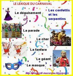 BLOG DE FRANCÉS DE LA E.S.O. (A1): Le vocabulaire du Carnaval #French2 Fetes unit