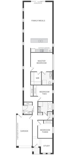 Plan maison rectangulaire Планы дома Pinterest House and