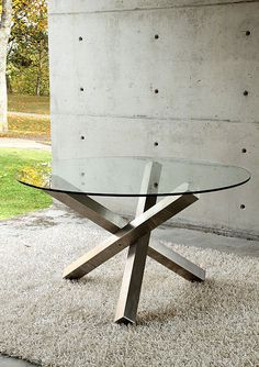 Mesa de comedor pata de acero