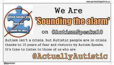 Autistic people taking over #AutismSpeaks10 hashtag.