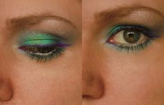 What's about blue makeup ideas? My makeup of the day