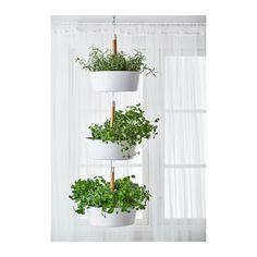 IKEA BITTERGURKA Hanging planter White