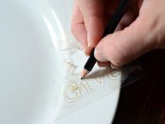 How to Make Hand-Painted Plates  Give inexpensive white dinner plates a high-end, custom look with a stenciled design and ceramic paint. Not only is this project great for the holidays, but also for weddings, anniversaries and birthdays.