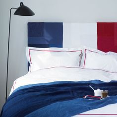 Red, white, & blue...perfect for the guest room.