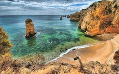 Download wallpapers Portugal, sea, coast, ocean, cliffs, HDR, Europe