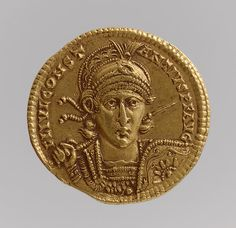 Solidus of Constantius II (Sole Emperor, 350–361), 350–361  Byzantine  Gold