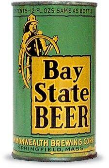 Bay State Beer ,Springfield , MA - Beer not Ale • very  rare Vintage Packaging, Vintage Labels, Vintage Ads, Beer History, Beer Can Collection, Old Beer Cans, German Beer Steins, Beers Of The World, Beer Brands