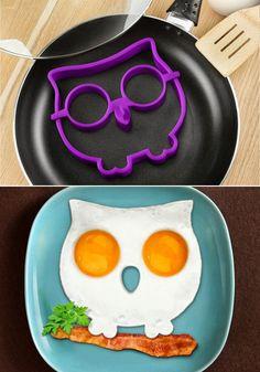 Funny Side Up Owl Egg Shaper