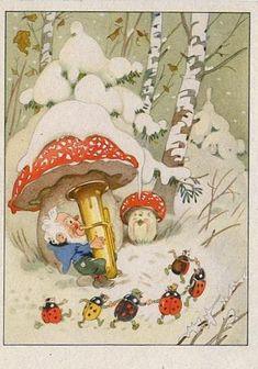Vintage Postcard by Fritz Baumgarten