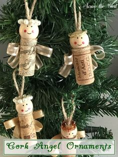 Wine Cork Angel Ornaments Across the Blvd