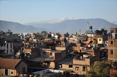 View on the mountains from the rooftop - http://www.cosynepal.com/accommodations/durbar-squarehouse/