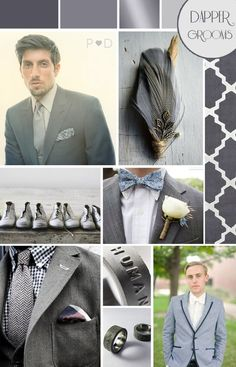 Bridal Inspiration Boards #45 ~ Fifty Shades of Grey… | Love My Dress® UK Wedding Blog