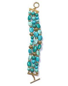 Lauren Ralph Lauren Three Row Beaded Bracelet