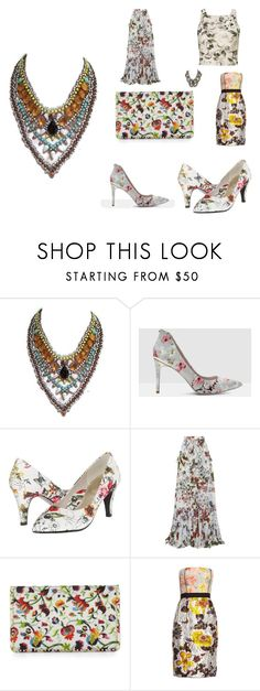 """""""template6"""" by mimmiandkinkistatementjewelry ❤ liked on Polyvore featuring Ted Baker, Soft Style, Erdem, Christian Louboutin, Oscar de la Renta and Miss Selfridge"""