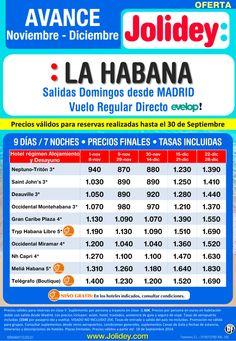 Avance Noviembre - Diciembre La Habana desde 870€. Salidas Domingos desde Madrid ultimo minuto - http://zocotours.com/avance-noviembre-diciembre-la-habana-desde-870e-salidas-domingos-desde-madrid-ultimo-minuto/