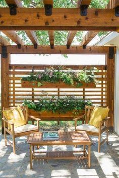 Amazing Privacy Fence for Patio & Backyard Landscaping Ideas Pergola Ideas Backyard Patio Designs, Backyard Pergola, Backyard Landscaping, Patio Ideas, Pergola Ideas, Landscaping Ideas, Garden Ideas, Fence Ideas, Gazebo