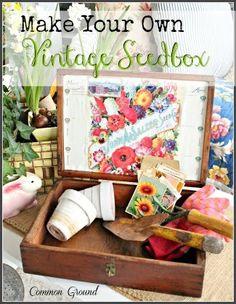DIY Vintage Seed Box