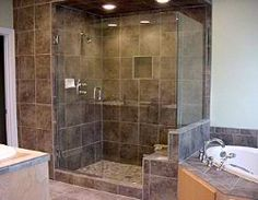Oh, the whole bathroom idea changed last night....certainly going with a huge shower with glass walls as the focal point =)
