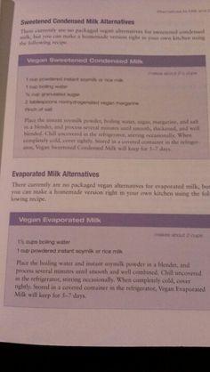 Vegan sweetened condensed milk & evaporated milk