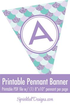 Mermaid Party Banner Under The Sea Printable by SprinkledDesign