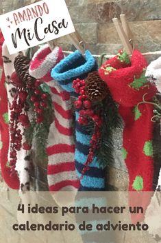Ideas para hacer un calendario de adviento - amandomicasa.com 4th Of July Wreath, Christmas Wreaths, Holiday Decor, Small Christmas Trees, Create Quotes, Calendar Ideas, Clothespins, Advent Calendar, Carton Box