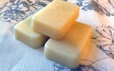 make lotion bars    Basic Ingredients:        1/2 cup Coconut Oil      1/2 cup Shea Butter (or Cocoa Butter, Mango Butter, etc)- Can use a mixture of any of these      2/3 cup beeswax pastilles    Optional Additional Ingredients:        1 teaspoon Vitamin E oil
